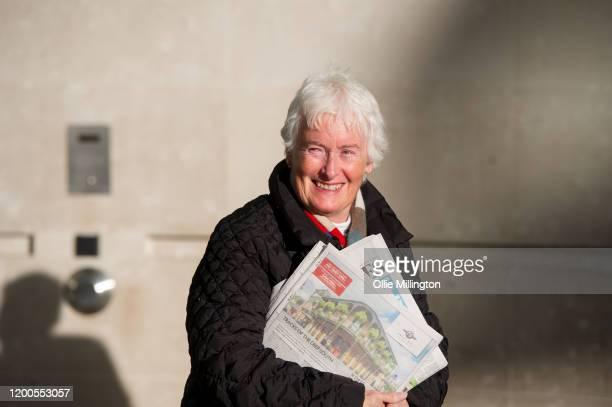 Margaret Rose Mountford attends the John Pienaar Politics BBC Radio 5 live politics show at BBC Broadcast House on on January 19 2020 in London...