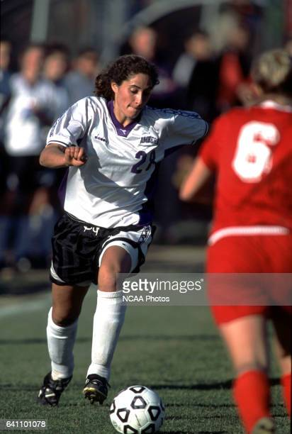 Margaret Rubin of Amherst College dribbles downfield during the Divison 3 Women's Soccer Championships held at Roy Rike Field on the campus of Ohio...