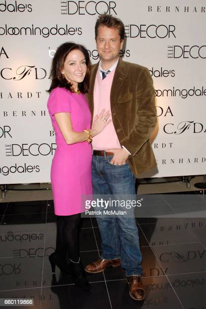 Margaret Russell and Nathan Turner attend ELLE DECOR and BLOOMINGDALE'S Celebrate Reopening of Furniture Department With Auction Benefitting CFDA at...