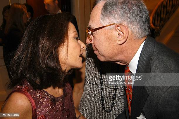 Margaret Russell Ari Kopelman and Coco Kopelman attend Steve Christine Schwarzman Host The 52nd Annual Antiques Show at 740 Park Avenue on November 2...