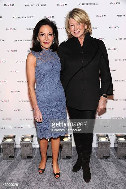 Margaret Russell Editor In Chief of Architectural Digest and Martha Stewart attend The AD100 Gala Hosted By Architectural Digest Editor In Chief...