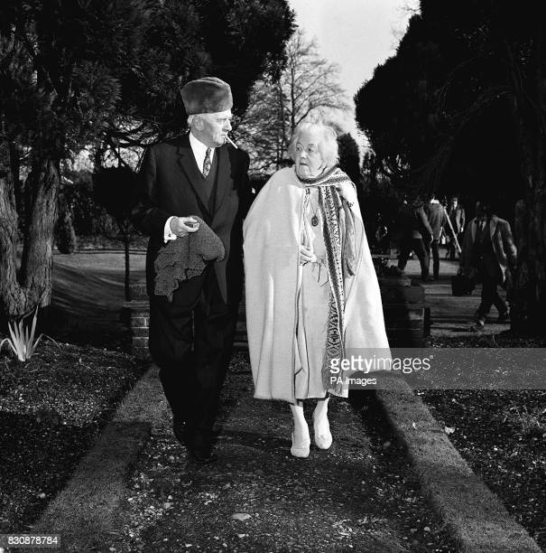 Margaret Rutherford the 74-year-old actress who becomes a DBE in the New Year Honours, takes a walk in the wintry sunshine with her actor husband,...