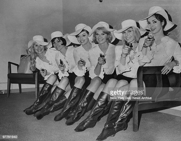 Margaret Teele Barbara Burgess Jan Watson Marilyn Tindall Margie Nelson and Mary Jane Mangler from the movie Silencers at Kennedy Airport