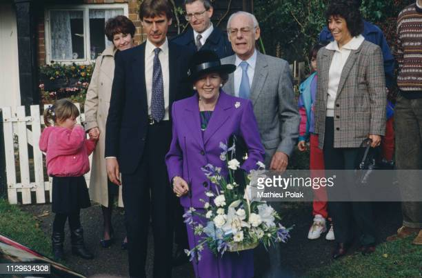 Margaret Thatcher and her husband Denis for the last time at Checkers the Prime Minister's country residence