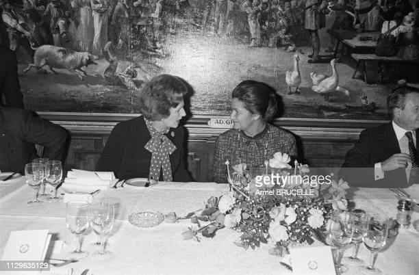 Margaret Thatcher and Simone Veil at the European Parliament in Strasbourg