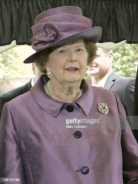 Margaret Thatcher Attends The Falklands 25Th Service Of Thanksgiving Remembrance Liberation Day At The Falkland Islands Memorial Chapel In Pangbourne...