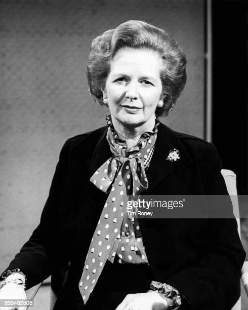 Margaret Thatcher, portrait, United Kingdom, c 1985.