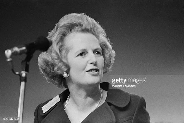 Margaret Thatcher the Secretary of State for Education and Science at the end of the Conservative Party Conference in Brighton UK 15th October 1971