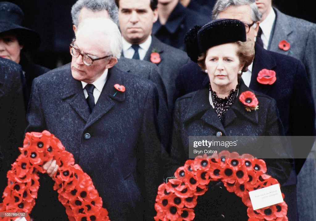 Margaret Thatcher And Michael Foot : News Photo