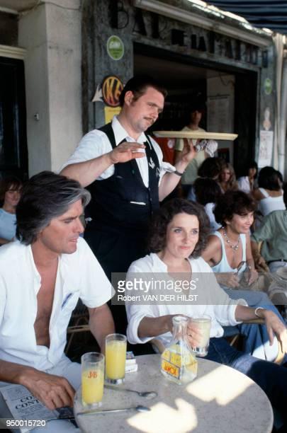 Margaret Trudeau et son second mari Frederick Kemper circa 1985 Canada