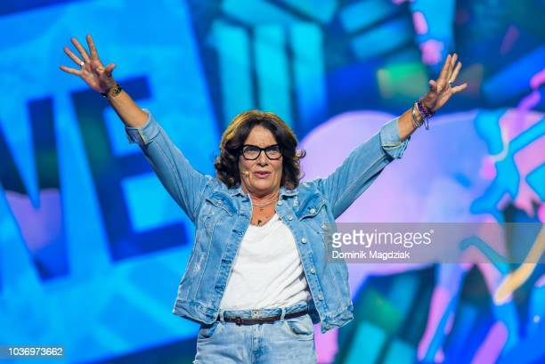 Margaret Trudeau speaks on stage during the 2018 WE Day Toronto Show at Scotiabank Arena on September 20 2018 in Toronto Canada