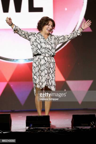 Margaret Trudeau speaks onstage at WE Day UN at The Theater at Madison Square Garden on September 20, 2017 in New York City.