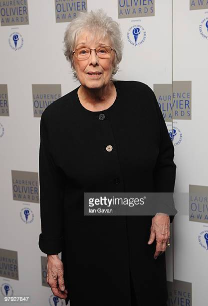 Margaret Tyzack attends the Laurence Olivier Awards at Grosvenor House on March 21 2010 in London England