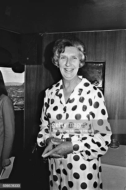 Margaret Whitlam at a press conference in the Carousel Restaurant in Canberra on 5 December 1972 SMH NEWS Picture by TED GOLDING