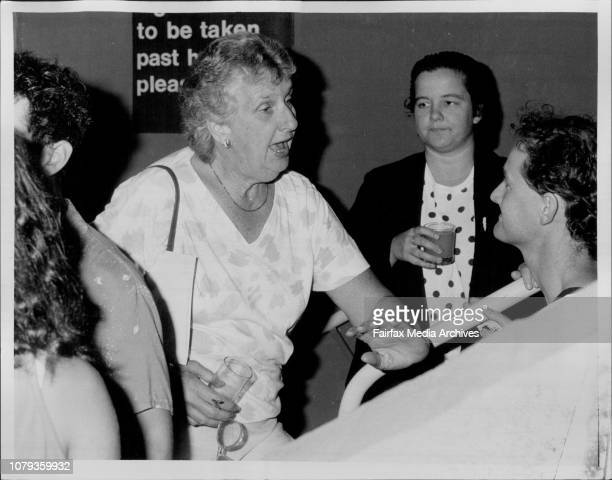 Margaret Whitlam Diana Manson at Belvour Street Theatre launch of new program February 24 1987
