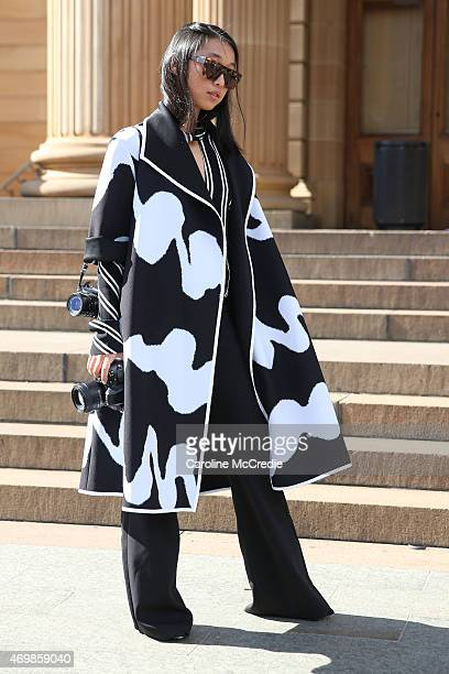 Margaret Zhang attends MercedesBenz Fashion Week Australia 2015 at the Art Gallery of NSW on April 16 2015 in Sydney Australia