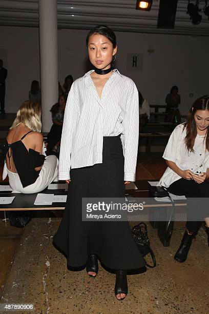 Margaret Zhang attends the Dion Lee fashion show during Spring 2016 MADE Fashion Week at Milk Studios on September 12 2015 in New York City