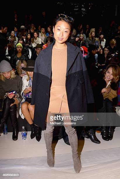Margaret Zhang attends the Nanette Lepore fashion show during MercedesBenz Fashion Week Fall 2014 at The Salon at Lincoln Center on February 12 2014...