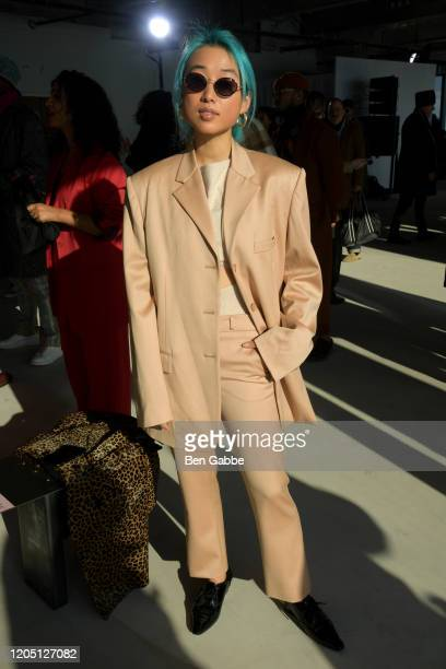 Margaret Zhang attends the Sies Marjan F/W 2020 Runway Show on February 09, 2020 in New York City.