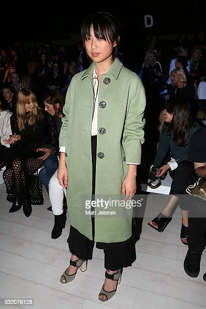 Margaret Zhang attends the Tome show at MercedesBenz Fashion Week Resort 17 Collections at Carriageworks on May 18 2016 in Sydney Australia