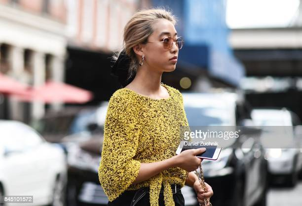 Margaret Zhang is seen outside the Tibi show during New York Fashion Week Women's S/S 2018 on September 9 2017 in New York City