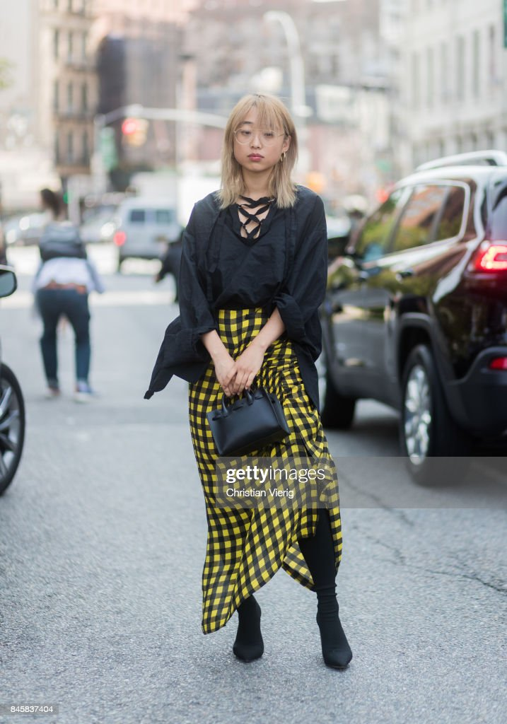 Margaret Zhang seen in the streets of Manhattan outside Zimmermann during New York Fashion Week on September 11, 2017 in New York City.