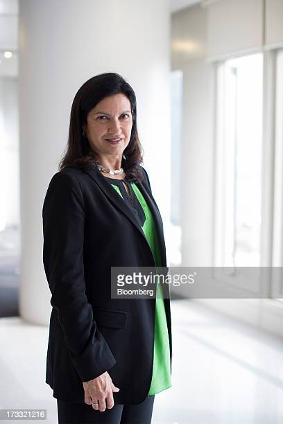 Margareth Henriquez president and chief executive officer of Krug Champagne poses for a portrait in Hong Kong China on Friday July 12 2013 Champagne...