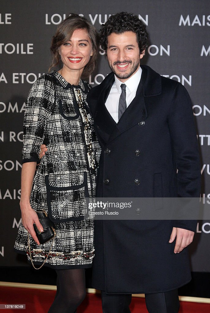 Margareth Made and Francesco Scianna attend the 'Maison Louis Vuitton Roma Etoile' Opening Party at Ex Istituto Geologico on January 27, 2012 in Rome, Italy.