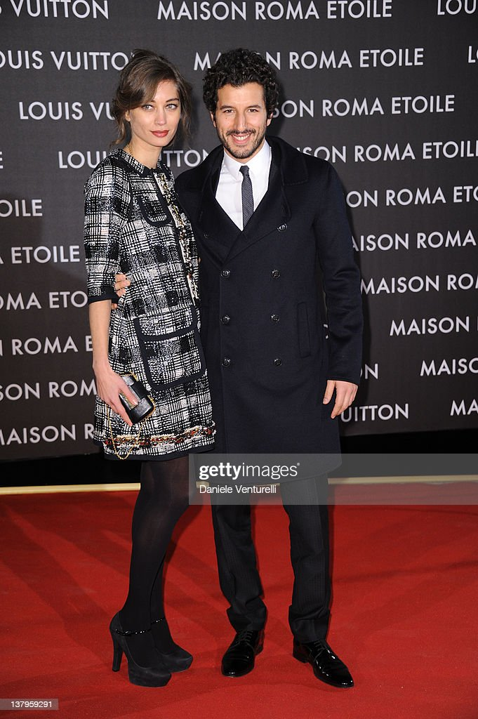 Margareth Made and Francesco Scianna attend the 'Maison Louis Vuitton Roma Etoile' Opening Party on January 27, 2012 in Rome, Italy.