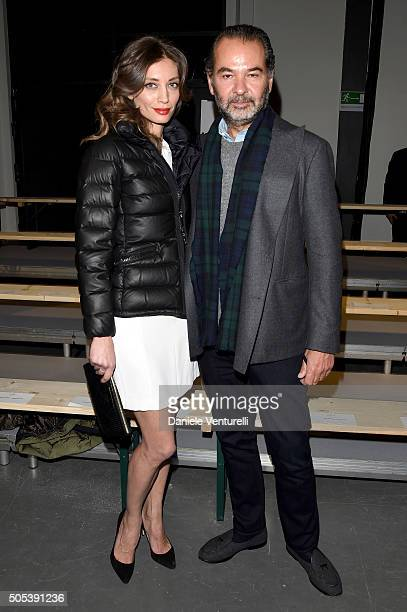 Margareth Made and Remo Ruffini attend the Moncler Gamme Bleu show during Milan Men's Fashion Week Fall/Winter 2016/17 on January 17 2016 in Milan...