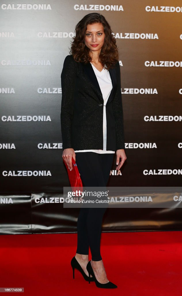Margareth Made attends Calzedonia Summer Show Forever Together on April 16, 2013 in Rimini, Italy.
