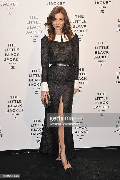 Margareth Made attends Chanel The Little Black Jacket - Karl Lagerfeld Photography Exhibition Dinner Party on April 4, 2013 in Milan, Italy.