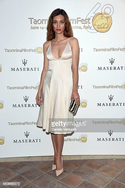 Margareth Made attends the 60th Taormina Film Fest on June 15 2014 in Taormina Italy
