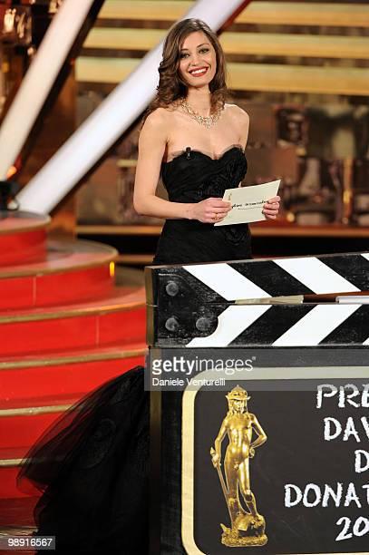 Margareth Made attends the 'David Di Donatello' movie awards at the Auditorium Conciliazione on May 7 2010 in Rome Italy