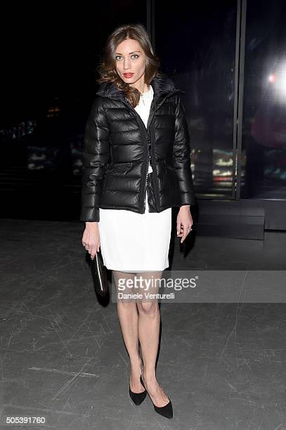 Margareth Made attends the Moncler Gamme Bleu show during Milan Men's Fashion Week Fall/Winter 2016/17 on January 17 2016 in Milan Italy