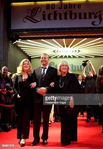 Margarethe von Trotta Heino Ferch and Barbara Sukowa pose on the red carpet as they arrive for the premiere of the film 'Vision From The Life Of...