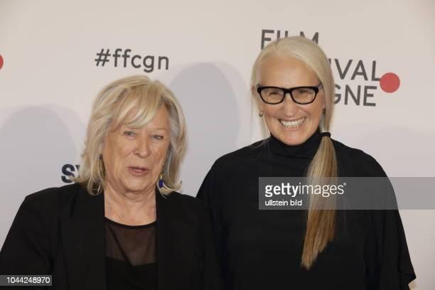 Margarethe von Trotta und Dame Elizabeth Jane Campion DNZM bei der Verleihung der Film Festival Cologne Awards 2017 am 06 Oktober 2017 im IHK...