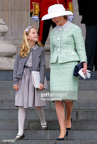 Margarita ArmstrongJones and Lady Serena Linley attend a Service of Thanksgiving to celebrate Queen Elizabeth II's Diamond Jubilee at St Paul's...