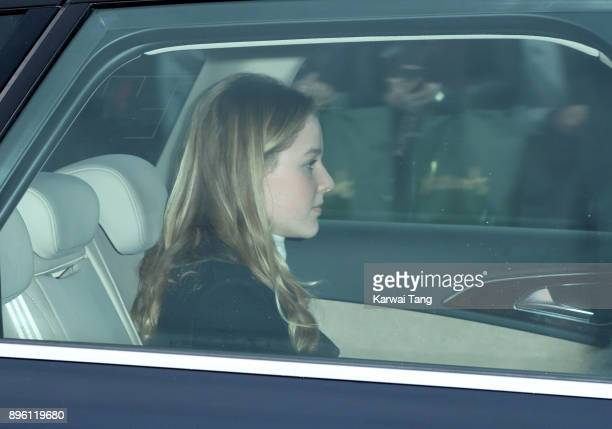 Margarita ArmstrongJones attends a Christmas lunch for the extended Royal Family at Buckingham Palace on December 20 2017 in London England