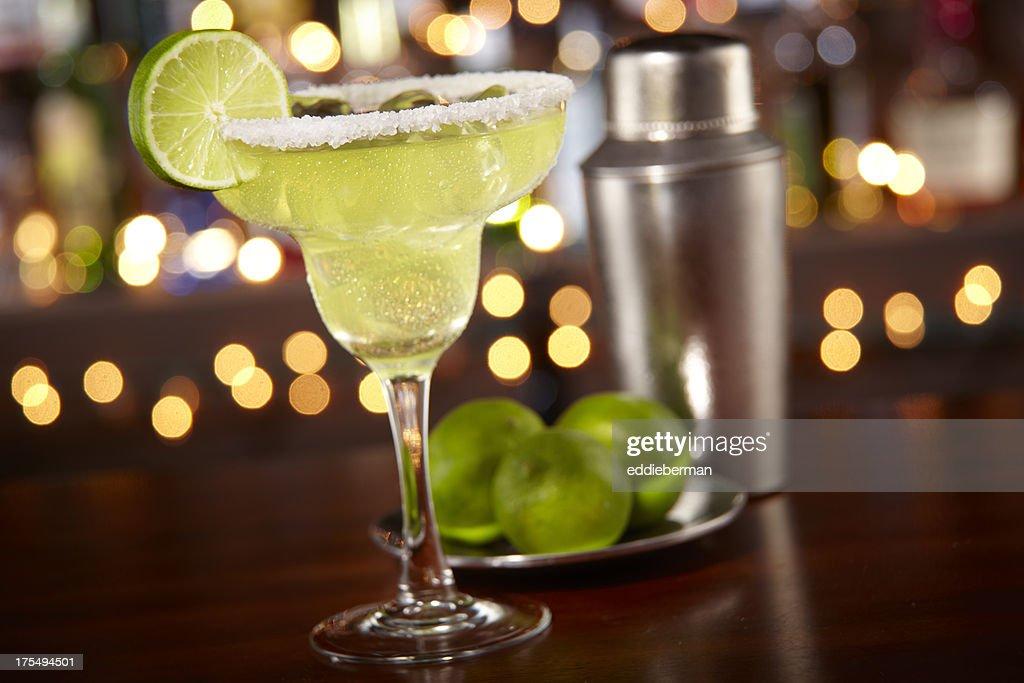 Margarita at a bar : Stock Photo