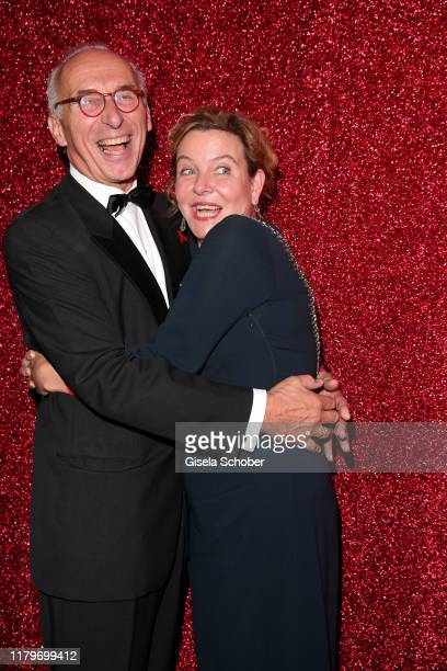 Margarita Broich and her partner Dirk Schmalenbach during the 26th Opera Gala party at Deutsche Oper Berlin on November 2 2019 in Berlin Germany