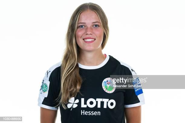 Margarita Gidion poses during the 1 FFC Frankfurt Women's team presentation on September 7 2018 in Frankfurt am Main Germany