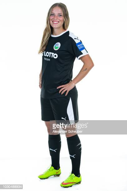 Margarita Gidion poses during the 1 FFC Frankfurt Women's team presentation on September 7 2018 in Frankfurt am Main Germany