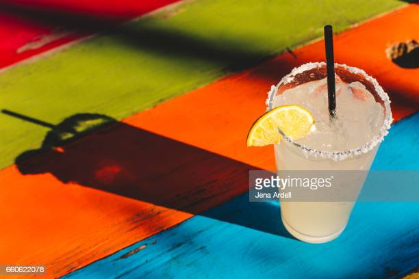 margarita glass - margarita drink stock photos and pictures