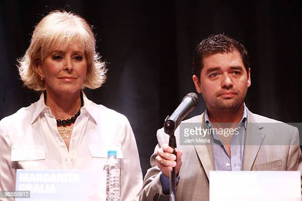 Margarita Gralia and Claudio Carrera during the press conference to present the play Todo Sobre Mi Madre based on the film by Pedro Almodovar at...