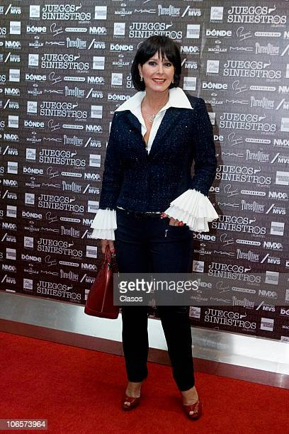 Margarita Gralia at the red carpet of Juegos Siniestros Spectacle at Los Insurgentes Theater on November 4 2010 in Mexico City Mexico