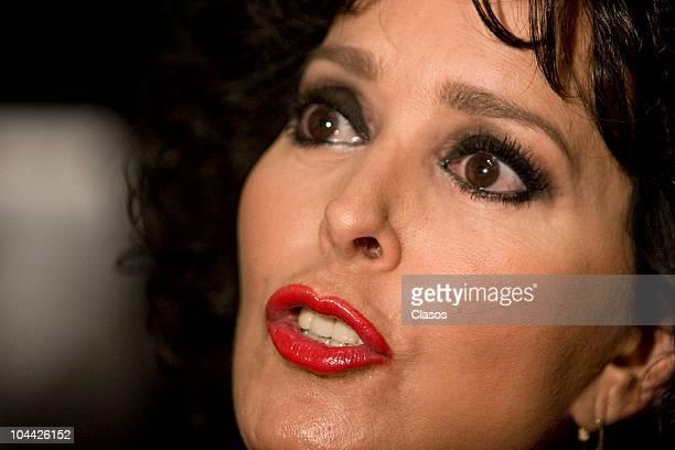 Margarita Gralia during the presentation of the soap opera Entre El Amor Y El Deseo on September 23 2010 in Mexico City Mexico