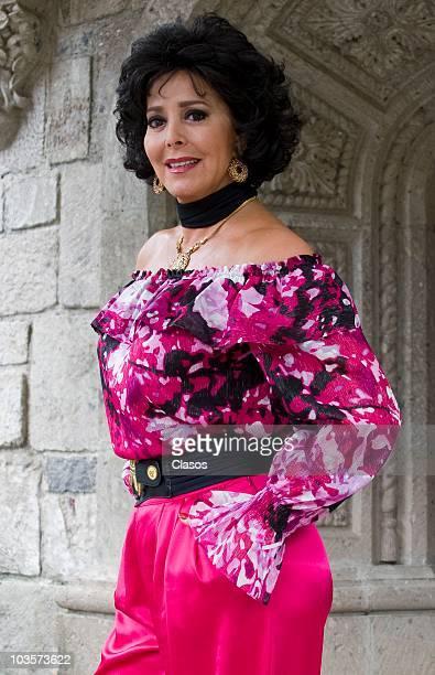 Margarita Gralia poses during the presentation of the new soap opera Entre el Amor y el Deseo on August 23 2010 in Mexico City Mexico