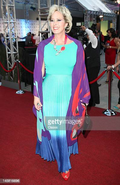Margarita Gralia poses for a picture at the inauguration of the new forums Azteca Novelas on June 5 2012 in Mexico City Mexico
