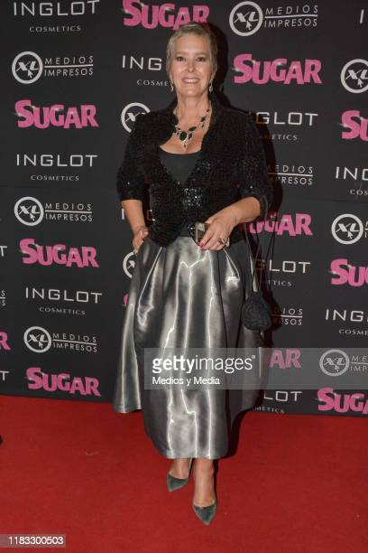 Margarita Gralia poses for photos during 'Sugar' Red Carpet at Teatro De Los Insurgentes on October 24 2019 in Mexico City Mexico
